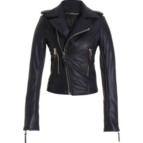blue motorbike jacket balenciaga motorcycle jacket in blue lyst