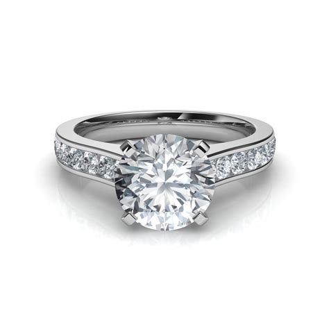 Cut Engagement Rings by Channel Set Cut Engagement Ring