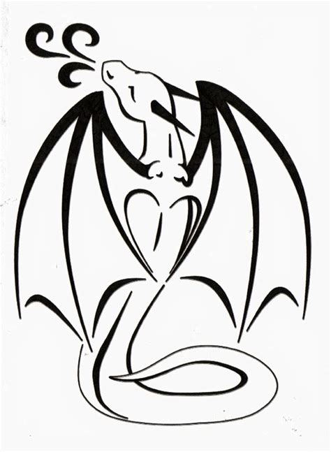 dragon tattoo outline designs black outline design