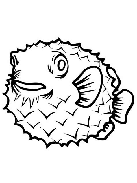coloring pages puffer fish porcupine puffer fish free colouring pages