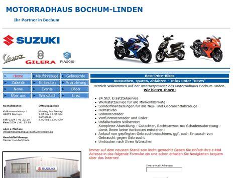 Suzuki Motorrad Händler Bochum by Suzuki Bochum Linden Motorrad Bild Idee