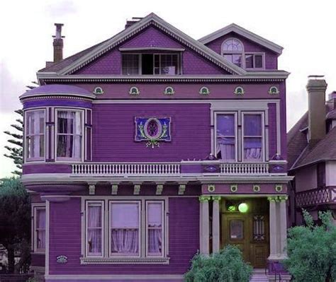 purple exterior purple house