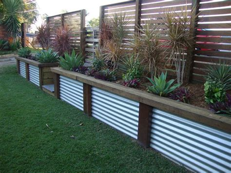 Garden Retaining Walls Ideas Retaining Wall Ideas Garden Decks Corrugated Metal And Lattices