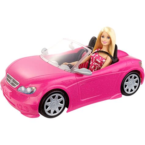 Barbie Auto Cabrio by Barbie Glam Convertible Doll Vehicle Pink Car Mattel New