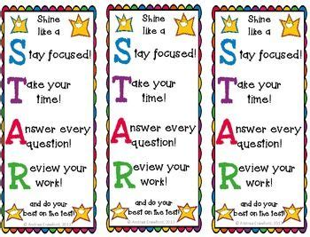 printable good luck bookmarks star testing motivation bookmarks and testing sign test