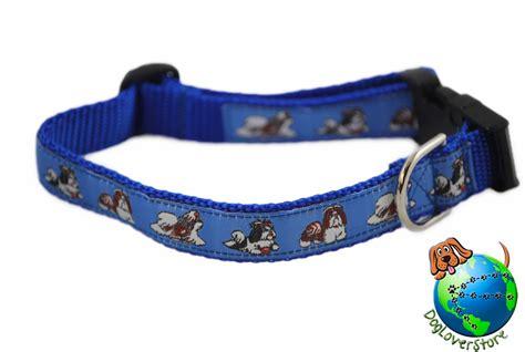 shih tzu collars shih tzu breed adjustable collar medium 10 16 blue ebay
