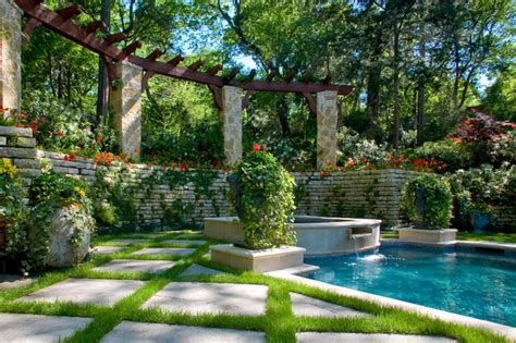 secluded backyard ideas secluded private retreat garden pool dallas by