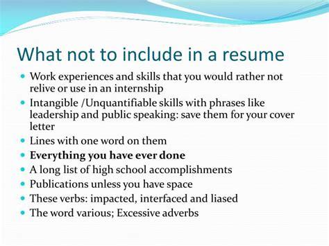 ppt resume preparation powerpoint presentation id 2611449