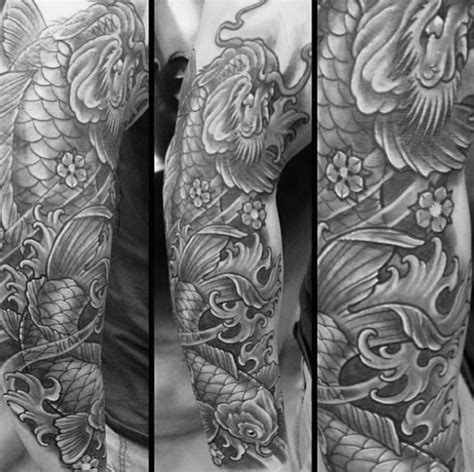 shaded dragon tattoo designs 50 koi designs for japanese fish ink ideas