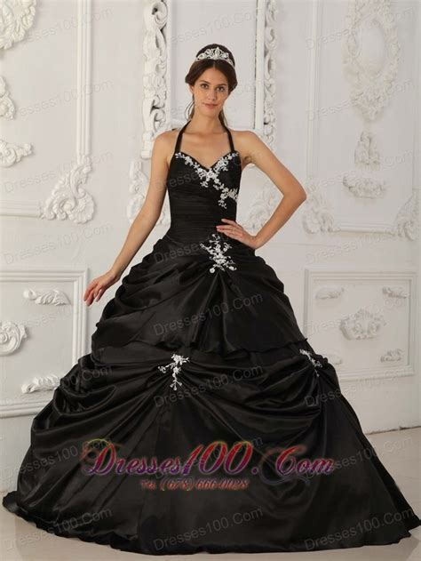black quinceanera dresses cheap pretty black quinceanera dress halter taffeta