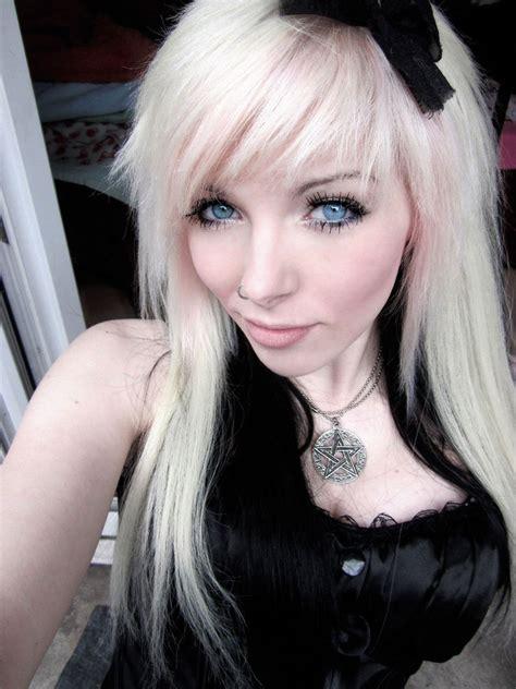 ira vampira blond black hair blue eyes by iravampira88 on