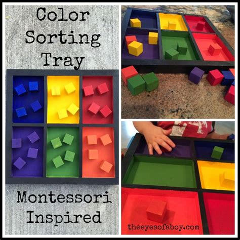 Colours Activity Learning Act Funlrn Col the of a boy montessori inspired wooden color sorting tray diy learning activity for