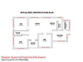 single floor house plan superb single floor design kerala house at 1070 sq ft