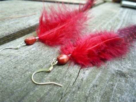 how to make feather jewelry how to make feather earrings and simple jewelry