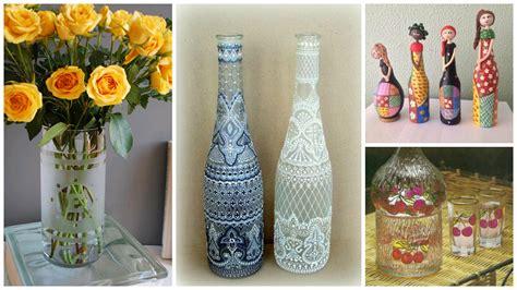 como decorar botellas en vidrio aprende lindas t 233 cnicas para decorar botellas de vidrio