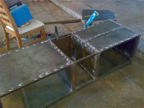 welding box section steel now i m welding the sheet on again a wild