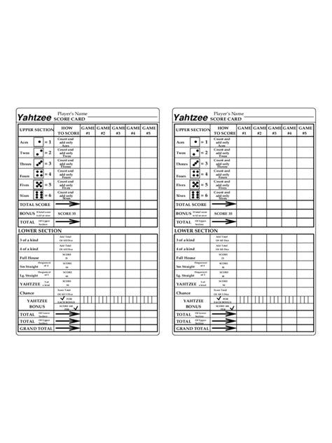 yahtzee score card template pdf yahtzee score sheet 7 free templates in pdf word excel