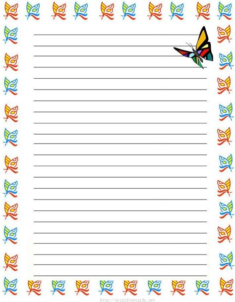 butterfly writing paper butterflies free printable stationery free