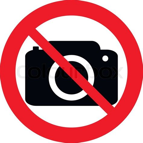 cameri no no photo vector sign isolated on white background