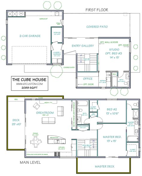 industrial style house plans the cube house ultra modern floor plans for simmies pinterest cube house and