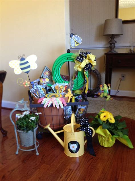 Gardening Basket Ideas Garden Raffle Basket For A Fashion Shiw Garden Basket Pinterest Best Raffle Baskets And