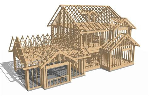 house frame 3 d design