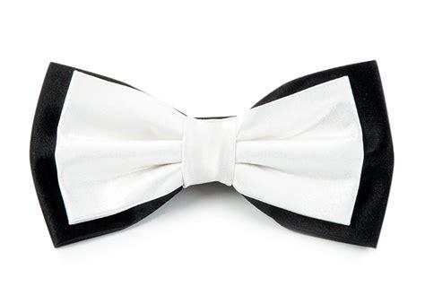 formal satin bow ties white on black ties bow ties