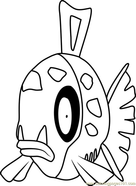 feebas pokemon coloring page  pokemon coloring pages