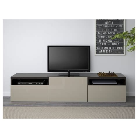 ikea oppli tv bench best 197 tv bench black brown selsviken high gloss beige
