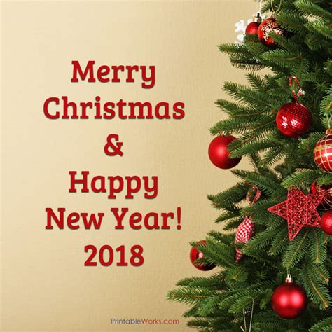 Happy New Year 2018 Printable Merry Christmas Happy | printable works calendars greenting cards headers
