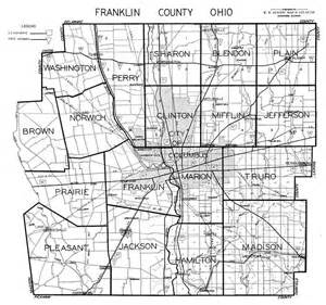 Ohio Township Map by Hixson 1930 S Franklin County Plat Maps