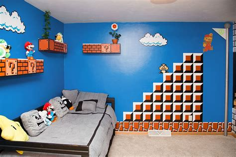 mario brothers bedroom super mario bros themed room 90kids com childhood
