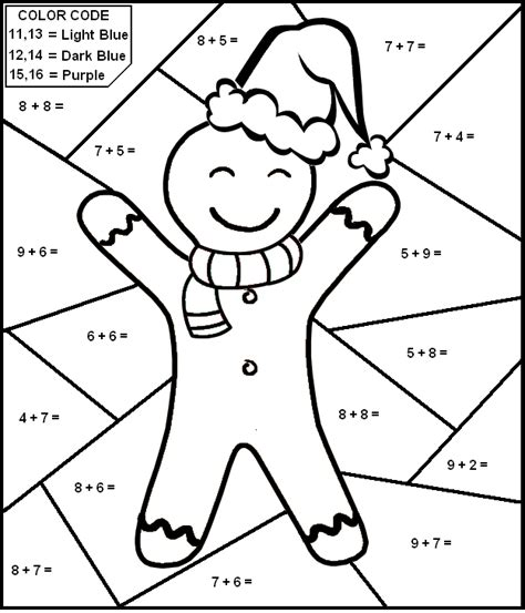 christmas math coloring pages 4th grade christmas worksheet color by number math worksheet for