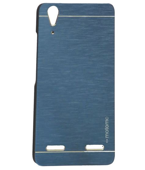 motomo lenovo a6000 motomo back cover for lenovo a6000 plus blue plain