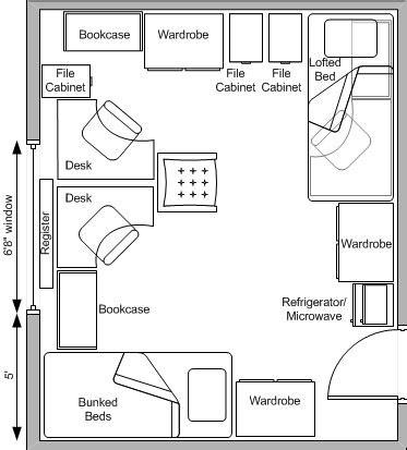 college dorm floor plans baker hall west residence halls university housing