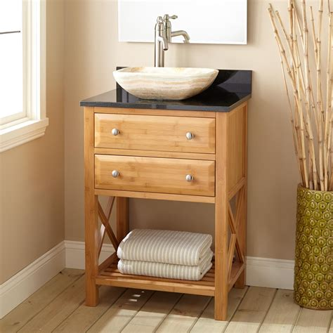 narrow bathroom sinks and vanities 24 quot narrow depth clinton bamboo vessel sink vanity bathroom