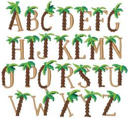 palm tree font by concord collections home format fonts on