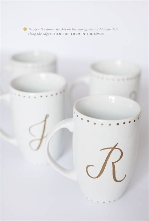 DIY   monogrammed gold sharpie mugs   PINEGATE ROAD