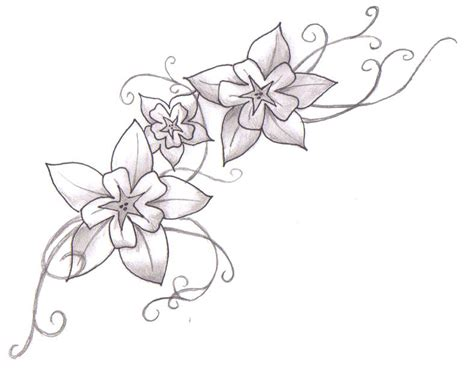 tattoo flower drawn tattoo flower galery tattoo design tattoo drawing