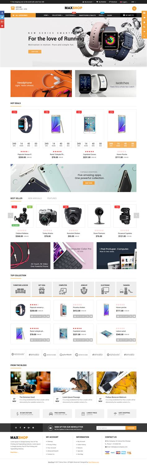 shopify advanced themes maxshop advanced multipurpose shopify sections theme by