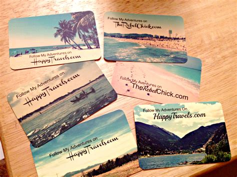Gift Card For Travel - travel blogger moo business cards the rebel chick