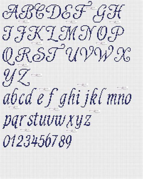 lettere punto croce corsivo 219 best images about punto croce alfabeti numeri on