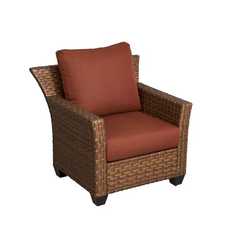 home depot patio furniture cushions hton bay tobago patio lounge chair with burgundy cushions 151 101 lc the home depot
