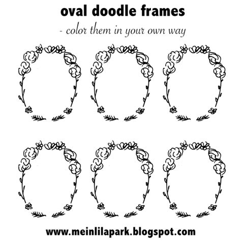 Etiketten Drucken In Pages by Free Printable Oval Diy Doodle Frames Coloring Page