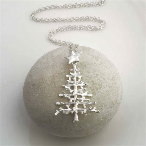 sterling silver christmas tree necklace by martha jackson