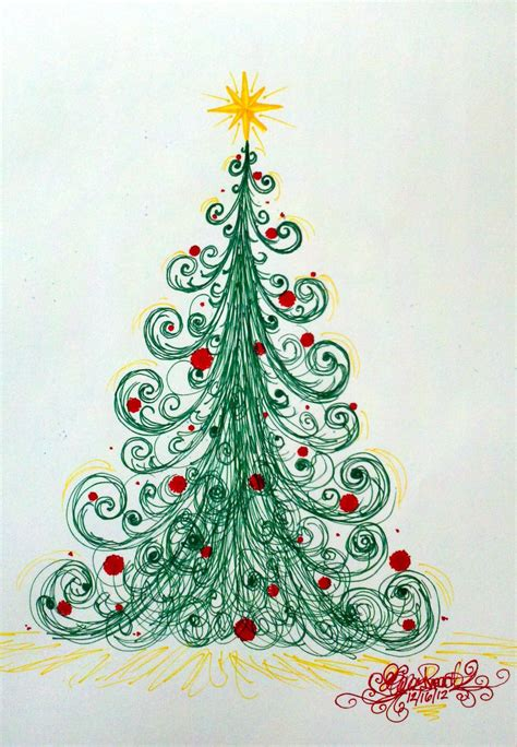 a very swirly christmas tree by fyreflye26 on deviantart