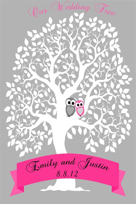 personalized wedding signature tree guestbook alternative