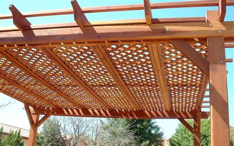 lattice roof outdoor spaces pinterest pergola roof