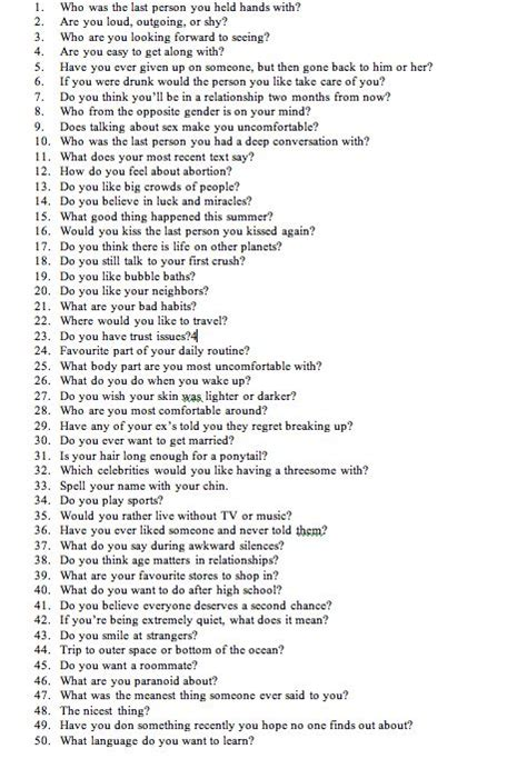 100 questions to ask a guy you are dating