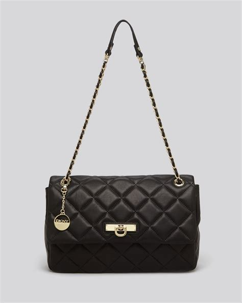 Quilted Black Purse by Dkny Shoulder Bag Gansevoort Large Quilted Nappa In Black